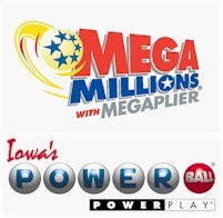 for the first time in iowa you have the chance to play for two jackpots of more than 100 million the powerball and mega millions jackpots both jumped