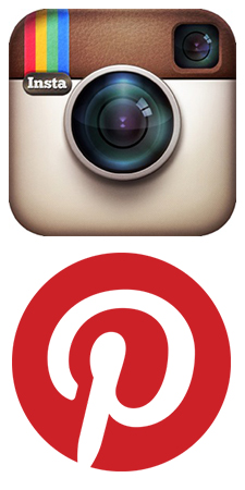 Instagram and Pinterest Logos