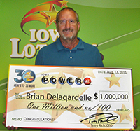 Brian Delaqardelle $1 Million PB 081715