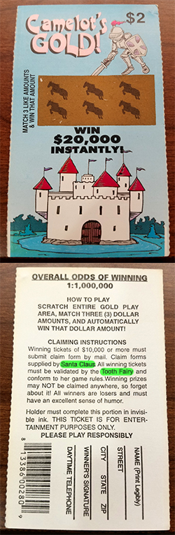 Fake Lottery Ticket