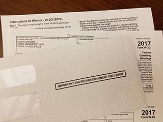 2017 W-2G Tax Form