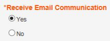 Receive Email Communication_Yes