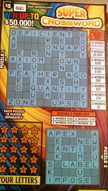 Newton and Peak on Crossword