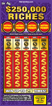 $250K Riches Scratch Ticket