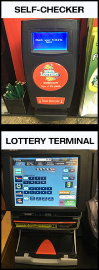 Self Checker and Lottery Terminal