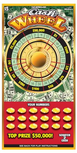 Cash Wheel Scratch Game