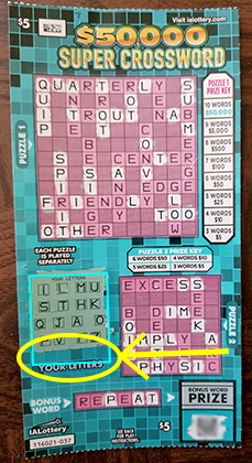 $50K Super Crossword Ticket