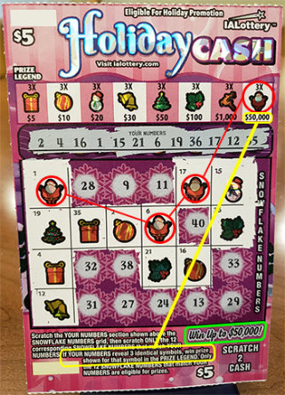 Holiday Cash Scratch Game