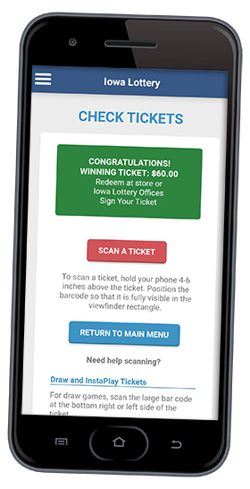 Mobile Phone App_New Green Background for Winning Tickets