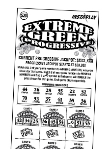 Game #148_Extreme Green Progressive_InstaPlay_Ticket