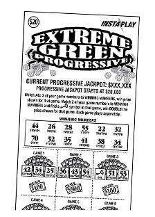 Game #148_Extreme Green Progressive_InstaPlay_Ticket