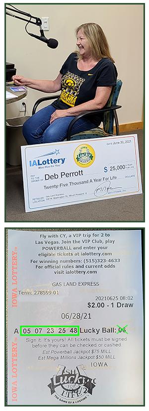 Deb Perrott_Lucky For Life_$25K